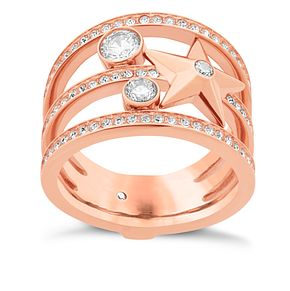 Michael Kors Celestial Rose Gold-Tone Charm Ring Size L - Product number 8117403