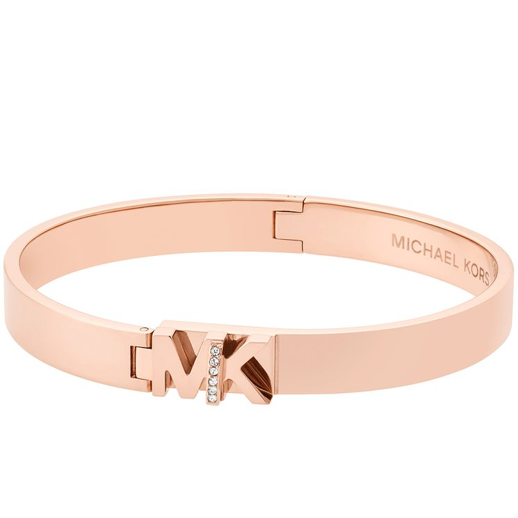 Michael Kors Haute Hardware Rose Gold-Tone Logo Bangle - Product number 8117462