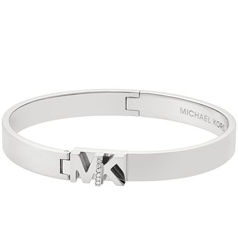 Michael Kors Haute Hardware Stainless Steel Logo Bangle - Product number 8117470
