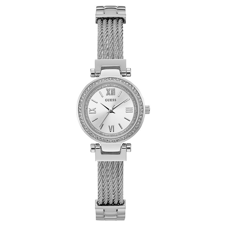 Guess Ladies' Stainless Steel Mesh Strap Watch - Product number 8119449