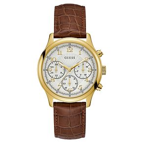 Guess Ladies' Brown Leather Strap Watch - Product number 8119457