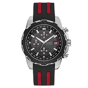 Guess Men's Black Silicone Strap Watch - Product number 8119597