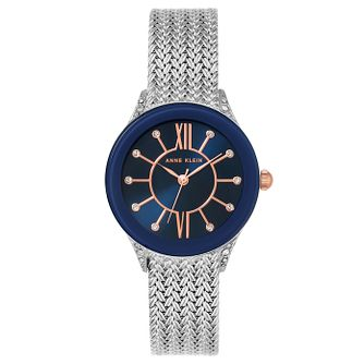Anne Klein Ladies' Silver Mesh Bracelet Watch - Product number 8119619