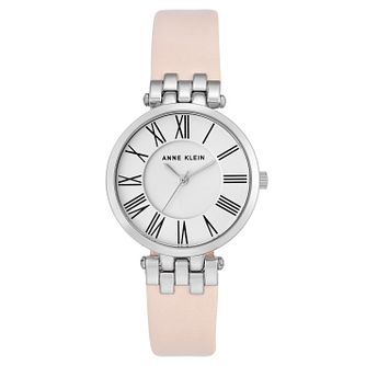 Anne Klein Ladies' Pink Leather Strap Watch - Product number 8119651