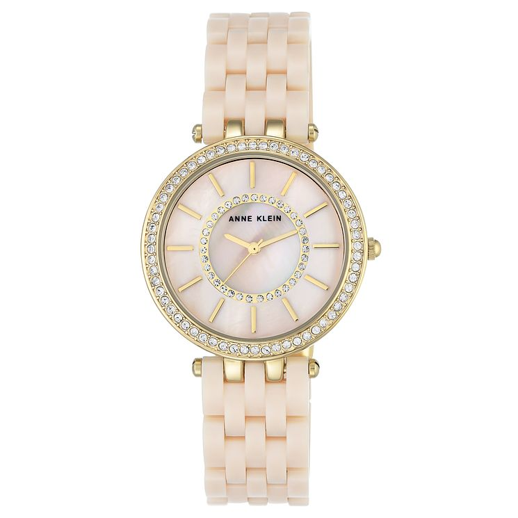 Anne Klein Ladies' Pink Resin Bracelet Watch - Product number 8119694
