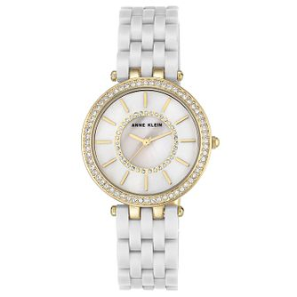 Anne Klein Ladies' White Resin Bracelet Watch - Product number 8119708