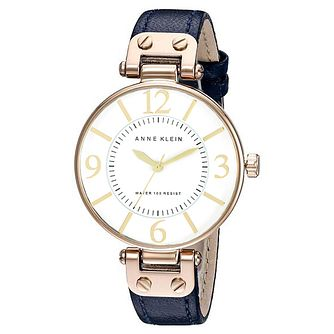 Anne Klein Ladies' Blue Leather Strap Watch - Product number 8119759