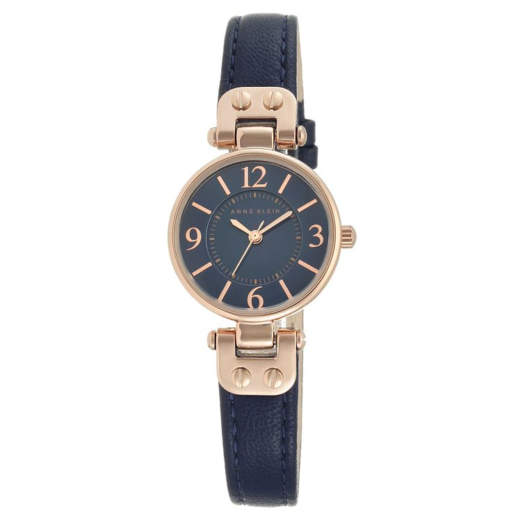Anne Klein Ladies' Blue Leather Strap Watch - Product number 8119767