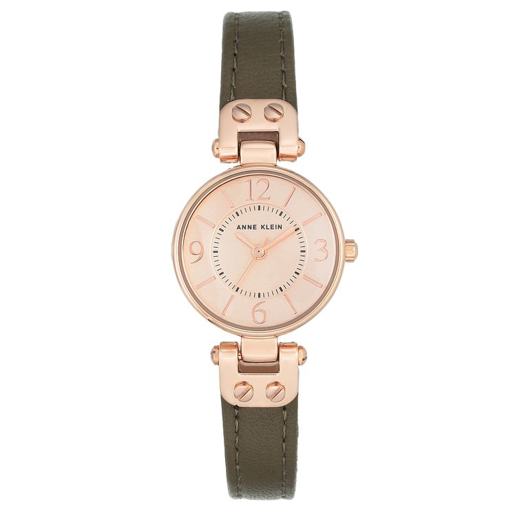 Anne Klein Ladies' Green Leather Strap Watch - Product number 8119775
