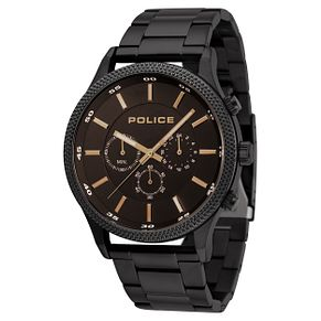 Police Men's Black Stainless Steel Bracelet Watch - Product number 8119864