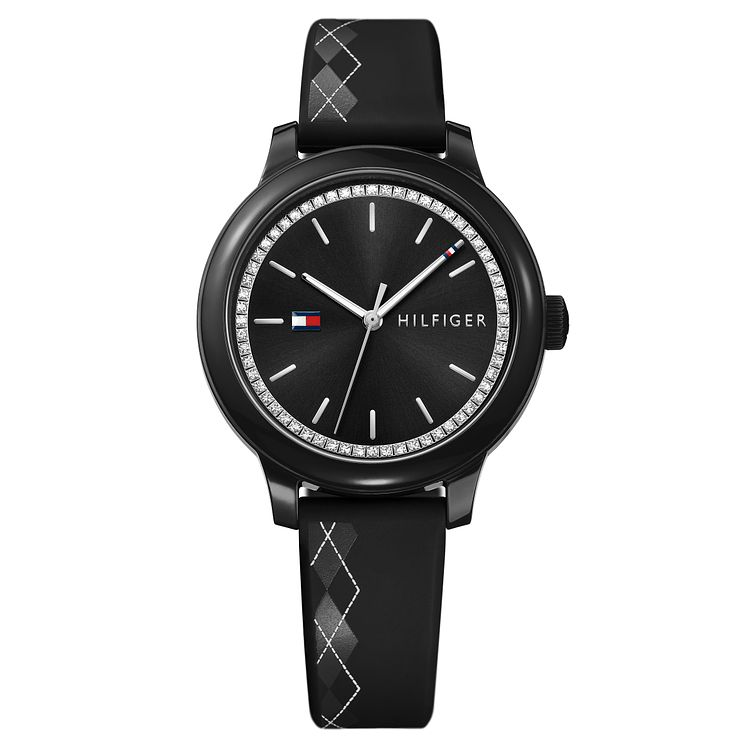 Tommy Hilfiger Ladies' Black Silicone Strap Watch - Product number 8119937