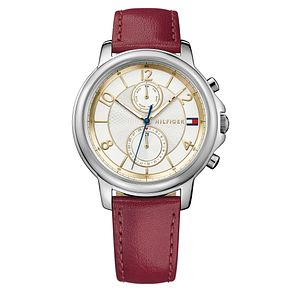 Tommy Hilfiger Ladies' Red Leather Strap Watch - Product number 8119945