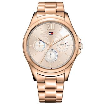 Tommy Hilfiger Men's Rose Gold IP Bracelet Smartwatch - Product number 8120099