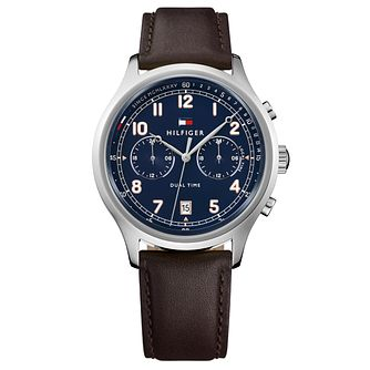 Tommy Hilfiger Men's Brown Leather Strap Watch - Product number 8120129