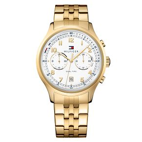 Tommy Hilfiger Men's Gold Ion Plated Bracelet Watch - Product number 8120145