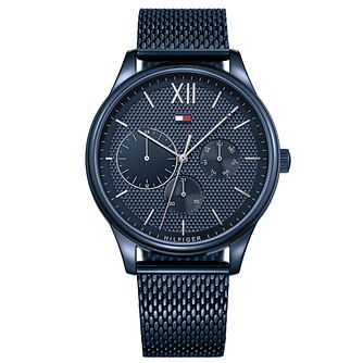 Tommy Hilfiger Men's Blue IP Mesh Bracelet Watch - Product number 8120242