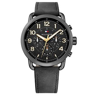 Tommy Hilfiger Men's Black Leather Strap Watch - Product number 8120277