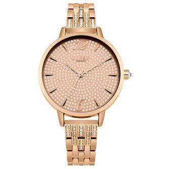Lipsy Ladies' Rose Gold Alloy Bracelet Watch - Product number 8120293