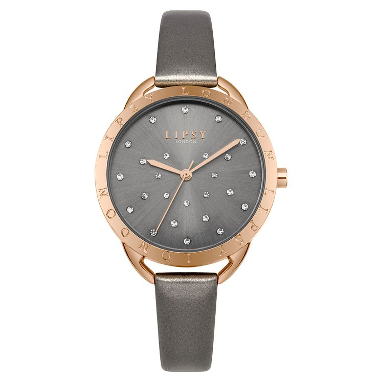 Lipsy Ladies' Grey PU Strap Watch - Product number 8120331
