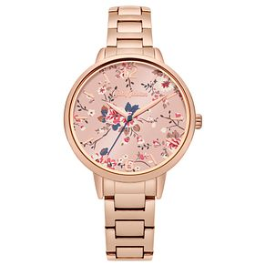 Cath Kidston Ladies' Rose Gold Plated Steel Bracelet Watch - Product number 8120382