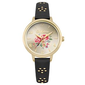 Cath Kidston Ladies' Black Leather Strap Watch - Product number 8120501