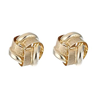 9ct Yellow Gold Knot Earrings - Product number 8125066