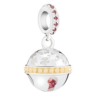 Chamilia Jingle Bell Charm with Gold Electroplating - Product number 8128154