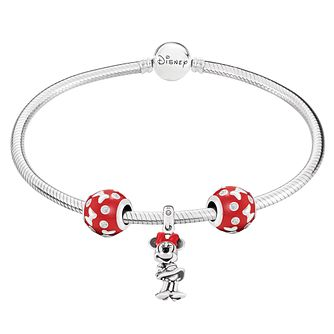 Chamilia Disney Classics Minnie Charm & Bracelet Gift Set - Product number 8128855