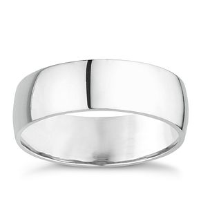 18ct white gold extra heavy 7mm court ring - Product number 8129371
