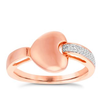 9ct Rose Gold Diamond Everlasting Heart Ring - Product number 8130159
