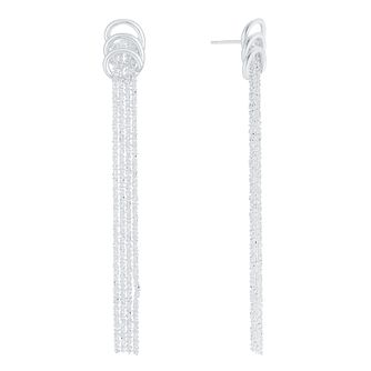 Sterling Silver Rope Style Multi Strand Drop Earrings - Product number 8131287