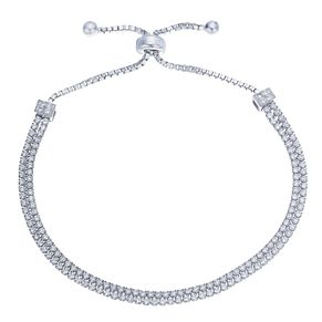 Sterling Silver Cubic Zirconia Adjustable Bracelet - Product number 8132038