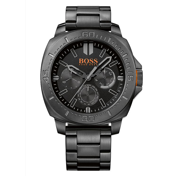 Boss Orange Men's Black Stainless Steel Bracelet Watch - Product number 8132143