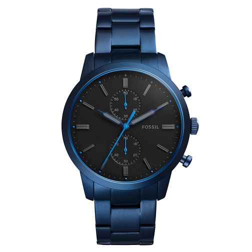 Fossil Townsman 44mm Men's Blue Ion Plated Bracelet Watch - Product number 8139571