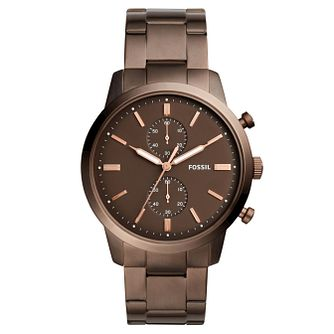 Fossil Townsman 44mm Men's Brown Ion Plated Bracelet Watch - Product number 8139679