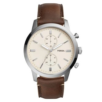 Fossil Townsman 44mm Men's Stainless Steel Strap Watch - Product number 8139687