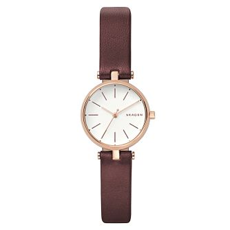 Skagen Signature Ladies' Rose Gold Tone Strap Watch - Product number 8139709