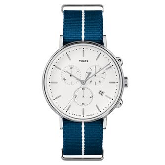 Timex Men's Fairfield Chronograph Blue Nylon Strap Watch - Product number 8140421