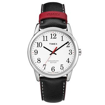 Timex Men's Anniversary Edition Black Leather Strap Watch - Product number 8140499