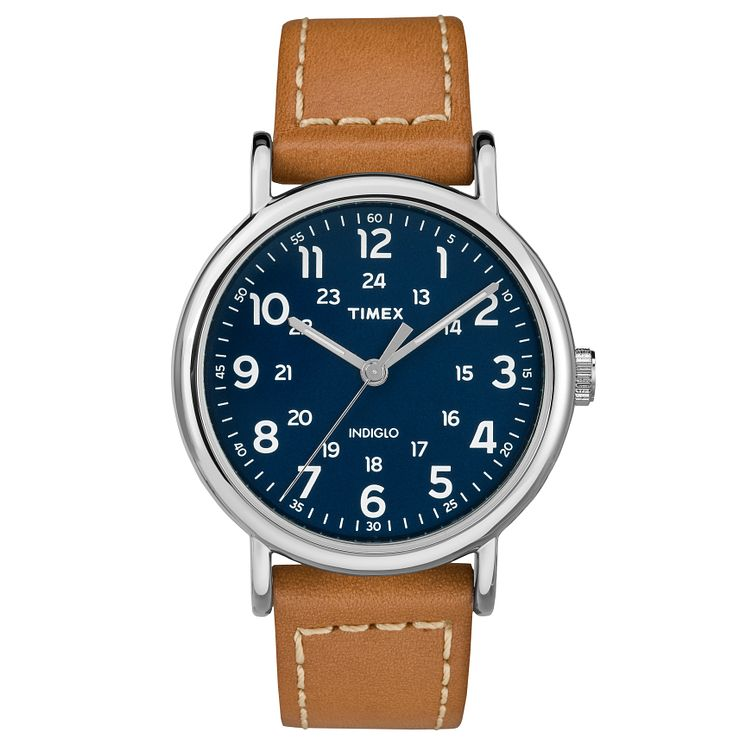 Timex Men's Tan Leather Strap Watch - Product number 8140510