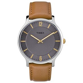 Timex Men's Brown Leather Strap Watch - Product number 8140553
