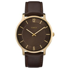 Timex Men's Brown Leather Strap Watch - Product number 8140561