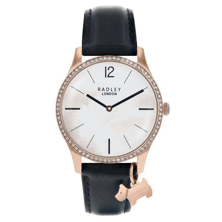 Radley Ladies' Black Leather Strap Watch - Product number 8140715