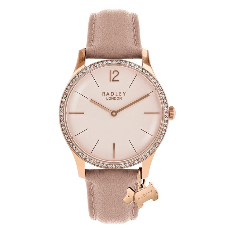 Radley Ladies' Pink Leather Strap Watch - Product number 8140723