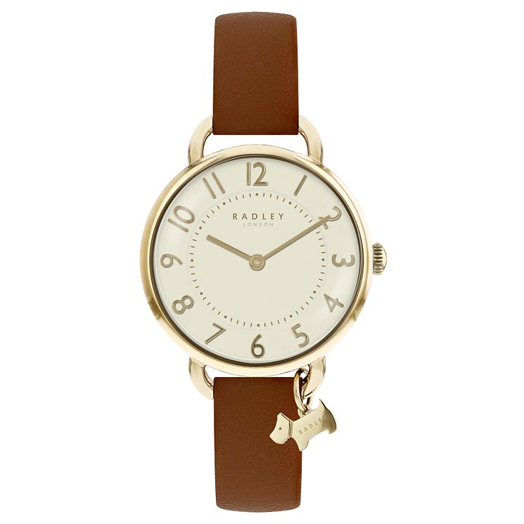 Radley Ladies' Brown Leather Strap Watch - Product number 8140766