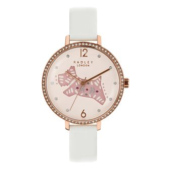Radley Ladies' White Leather Strap Watch - Product number 8140790