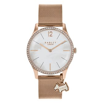 Radley Ladies' Rose Gold Plated Mesh Bracelet Watch - Product number 8140898