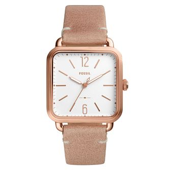 Fossil Ladies' Pink Leather Strap Watch - Product number 8144656