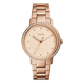 Fossil Ladies' Rose Gold Plated Bracelet Watch - Product number 8144680