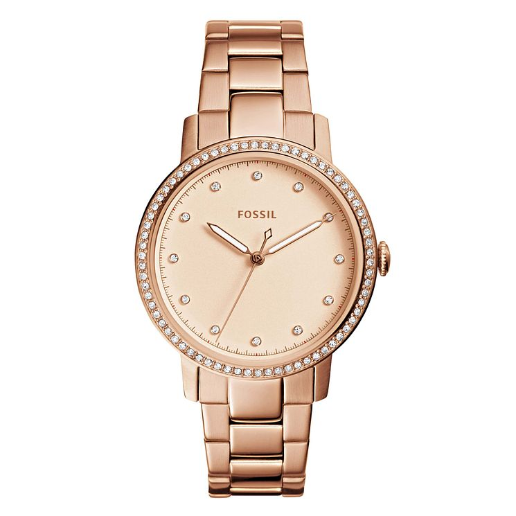 Fossil Neely Ladies' Rose Gold Plated Bracelet Watch - Product number 8144680